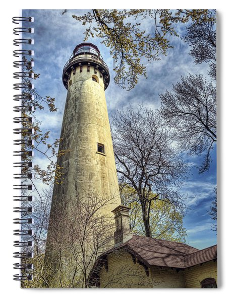 Grosse Point Lighthouse Color Spiral Notebook