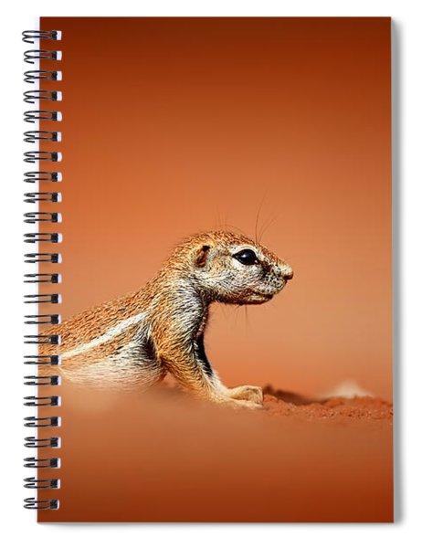 Ground Squirrel On Red Desert Sand Spiral Notebook