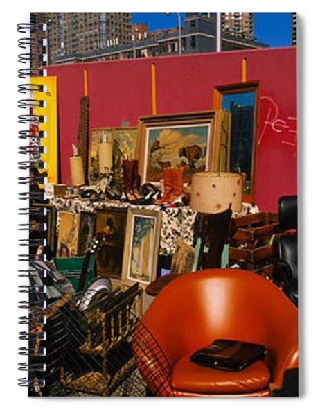 Group Of People In A Flea Market, Hells Spiral Notebook