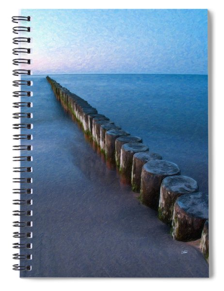 Groynes Baltic Sea Ger 3393 Spiral Notebook