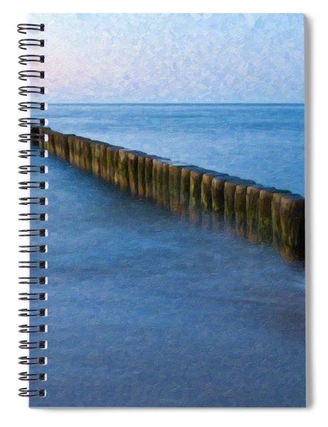 Groynes Baltic Sea Ger3392 Spiral Notebook