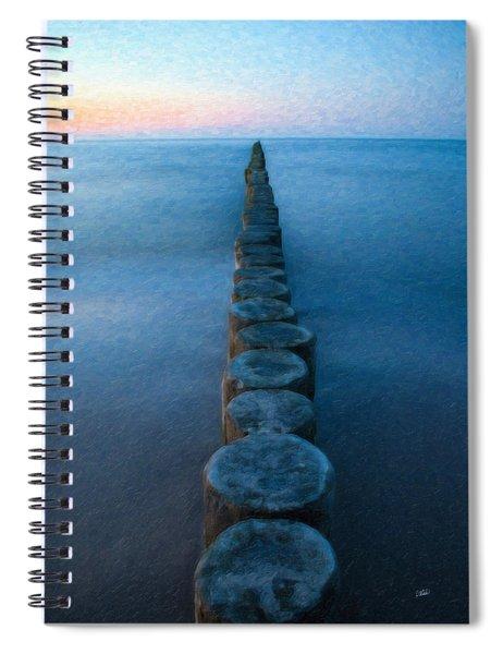 Groynes Baltic Sea Ger3394 Spiral Notebook