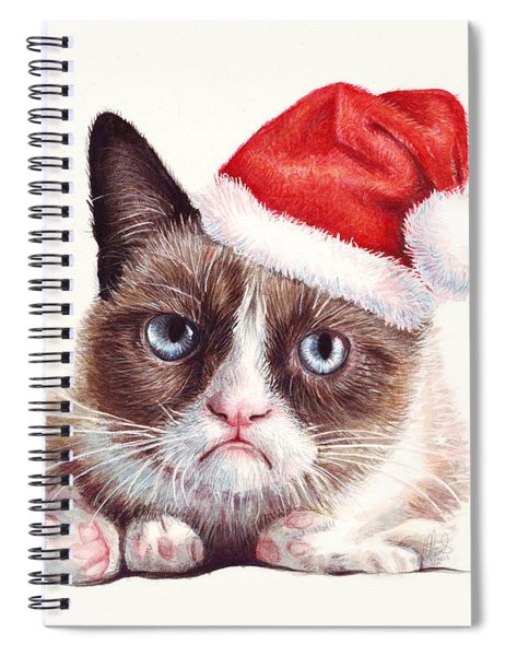 Grumpy Cat As Santa Spiral Notebook