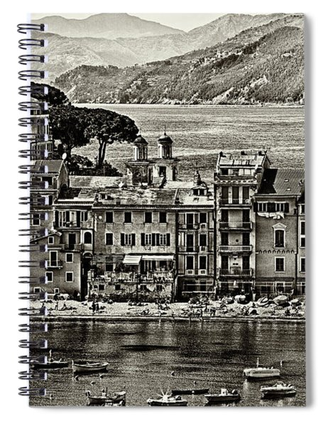 Grunge Seascape Spiral Notebook