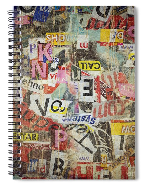 Grunge Textured Background Spiral Notebook