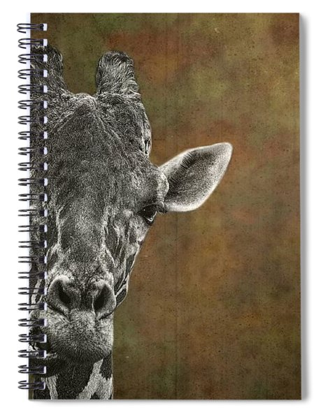 Grungy Giraffe 5654 Brown Spiral Notebook