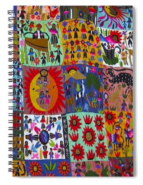 Guatemala Folk Art Quilt Spiral Notebook