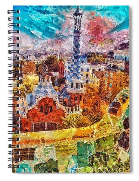 Guell Park Spiral Notebook