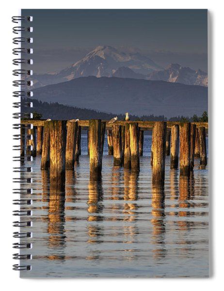 Guemes Channel Trail View Spiral Notebook