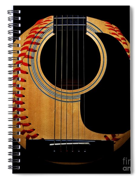 Guitar Baseball Square Spiral Notebook