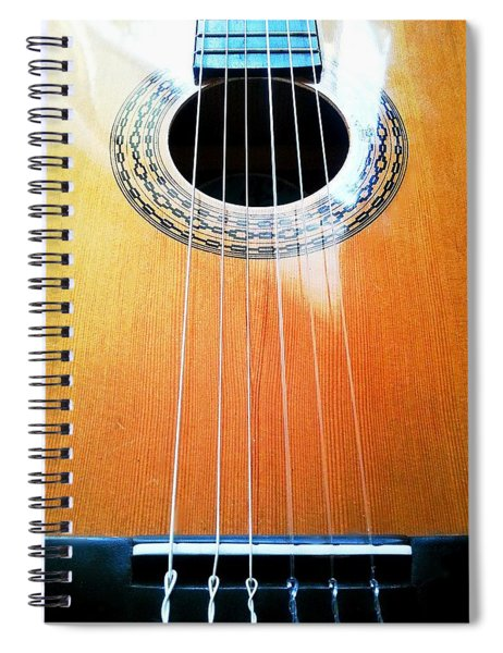 Guitar In The Light Spiral Notebook