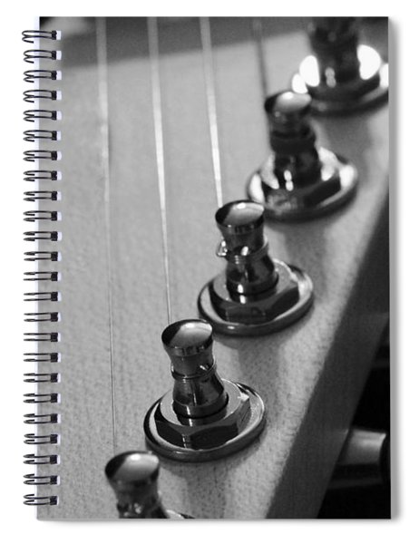 Black And White Guitar Spiral Notebook