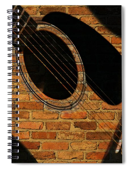 Guitar Shadow Spiral Notebook