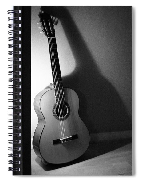 Guitar Still Life In Black And White Spiral Notebook