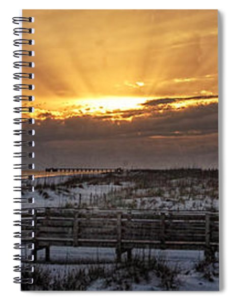 Gulf Shores From Pavilion Spiral Notebook