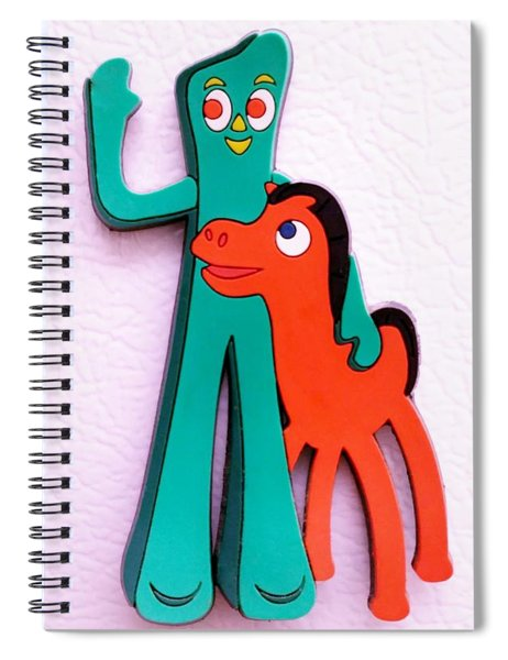 Gumby And Pokey B F F Spiral Notebook