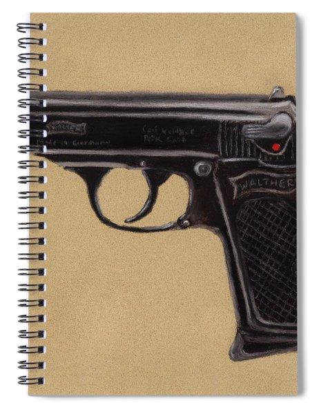 Gun - Pistol - Walther Ppk Spiral Notebook