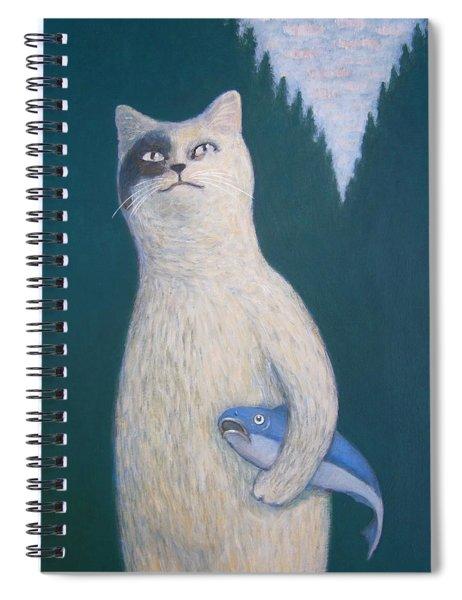 Gunter And His Pet Fish Klaus Spiral Notebook