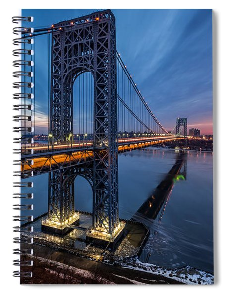 Gwb Sunrise Spiral Notebook