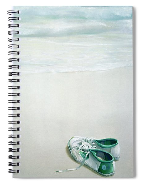 Gym Shoes On Beach Spiral Notebook