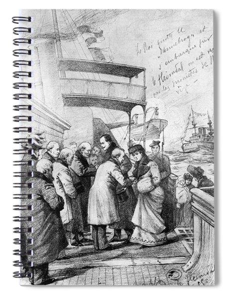 Haakon Vii & Queen Maud Of Norway Spiral Notebook