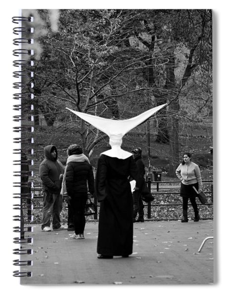 Spiral Notebook featuring the photograph Habit In Central Park by Lorraine Devon Wilke