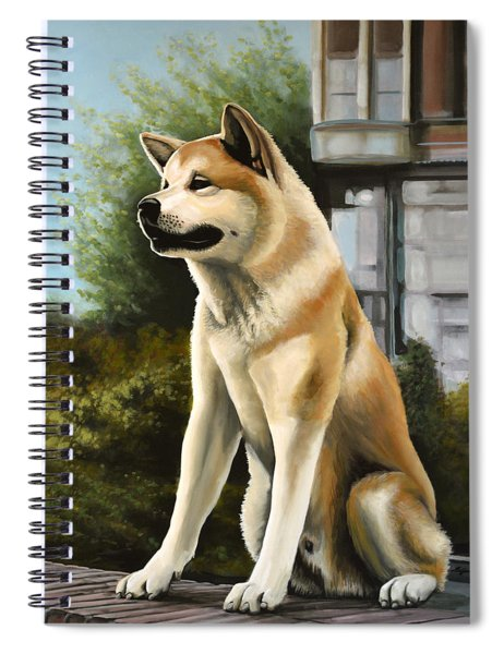 Hachi Painting Spiral Notebook