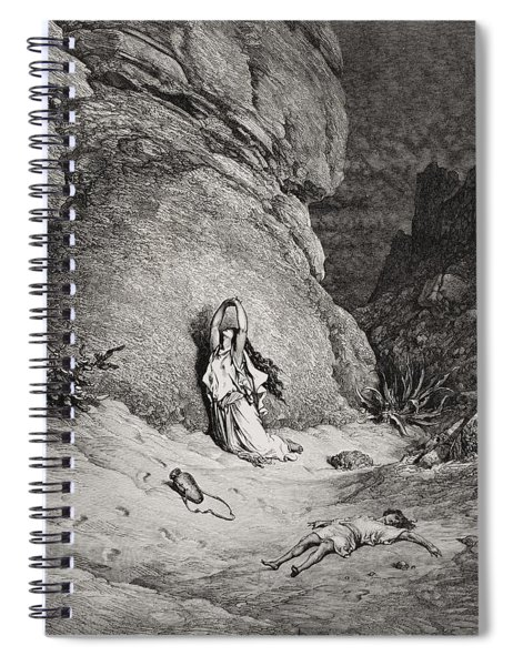 Hagar And Ishmael In The Desert Spiral Notebook