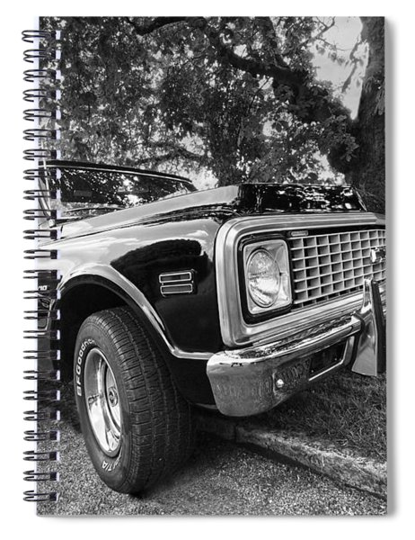 Halcyon Days - 1971 Chevy Pickup Bw Spiral Notebook