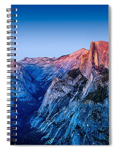 Half Dome Twilight Spiral Notebook