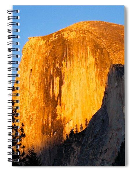 Half Dome Yosemite At Sunset Spiral Notebook