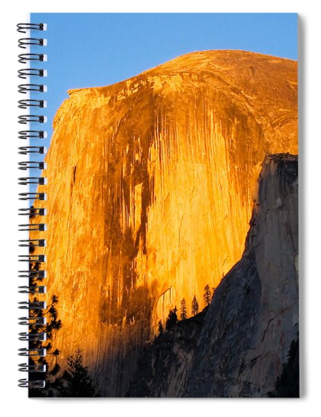 Half Dome Yosemite At Sunset Spiral Notebook