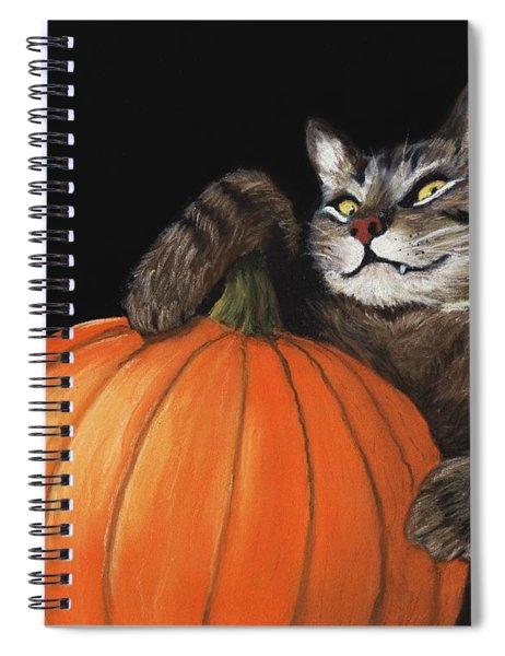 Halloween Cat Spiral Notebook