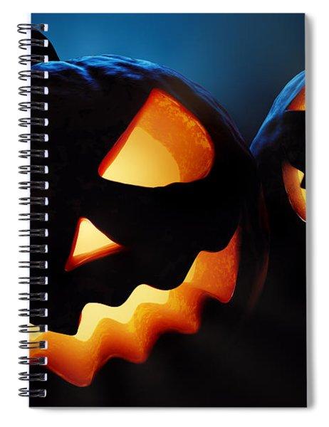 Halloween Pumpkins Closeup -  Jack O'lantern Spiral Notebook