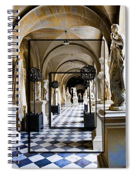 Halls Of Versailles Paris Spiral Notebook