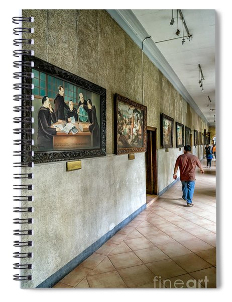Hallway Of Paintings Spiral Notebook