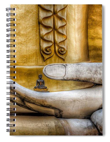 Hand Of Buddha Spiral Notebook