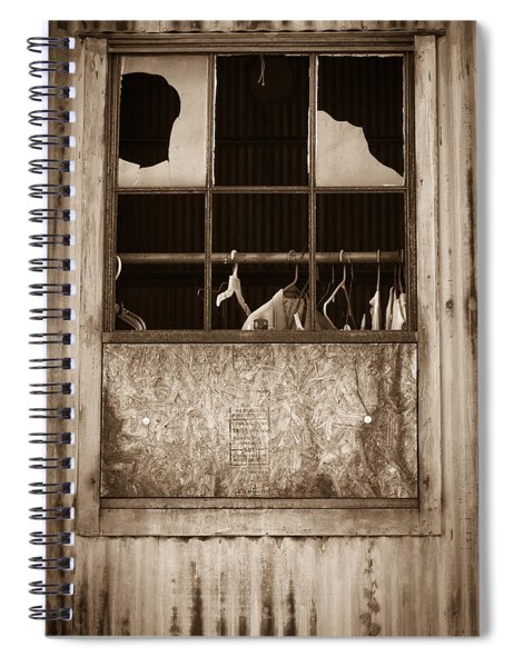 Hangers In The Window Spiral Notebook