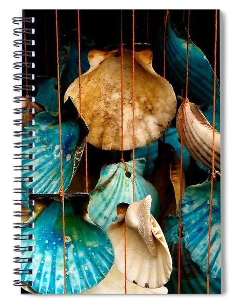 Hanging Together - Sea Shell Wind Chime Spiral Notebook