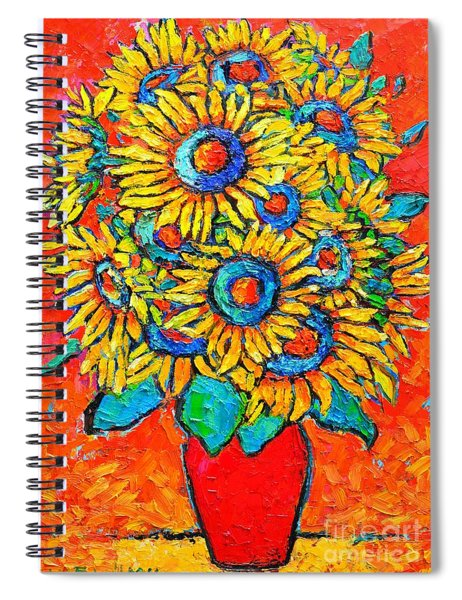 Happy Sunflowers Spiral Notebook