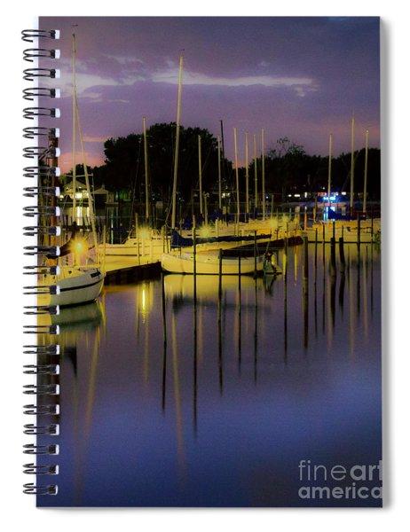 Harbor At Night Spiral Notebook