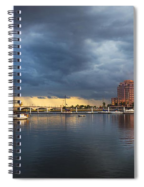 Harbor At West Palm Beach Spiral Notebook