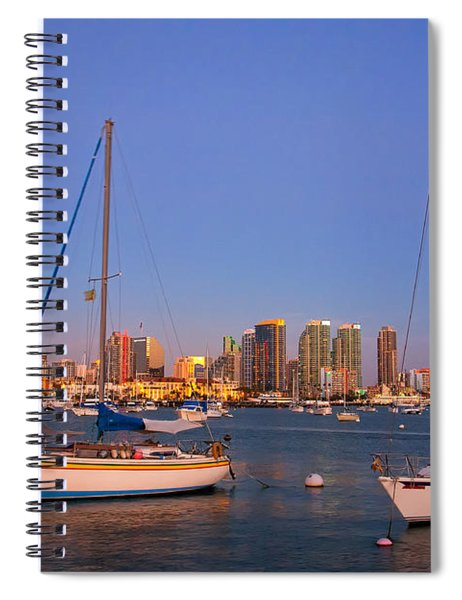 Harbor Sailboats Spiral Notebook