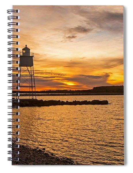 Harbor Sunrise Spiral Notebook