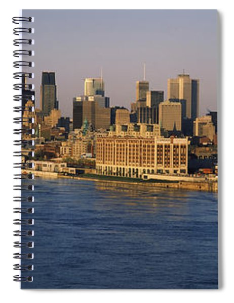 Harbor With The City Skyline, Montreal Spiral Notebook