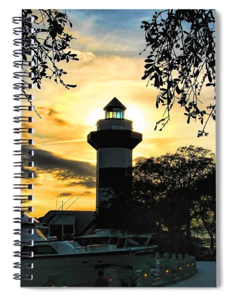 Harbour Town Lighthouse Beacon Spiral Notebook