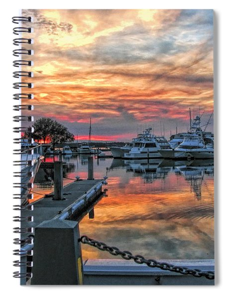 Harbour Town Yacht Basin Spiral Notebook