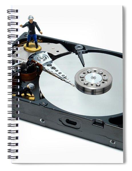 Hard Drive Firewall Spiral Notebook