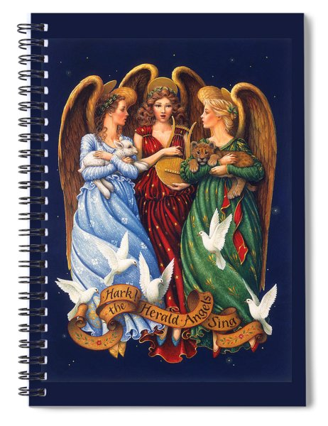 Hark The Herald Angels Sing Spiral Notebook