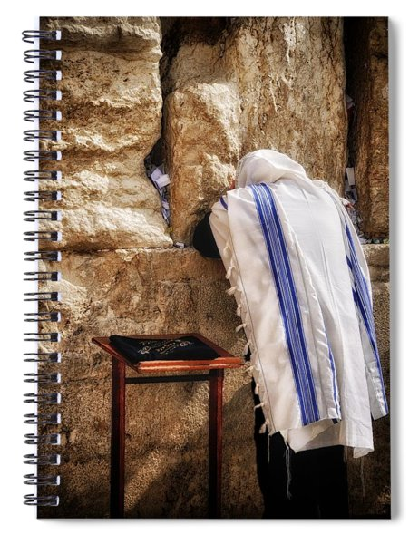 Harken Unto My Prayer O Lord Western Wall Jerusalem Spiral Notebook